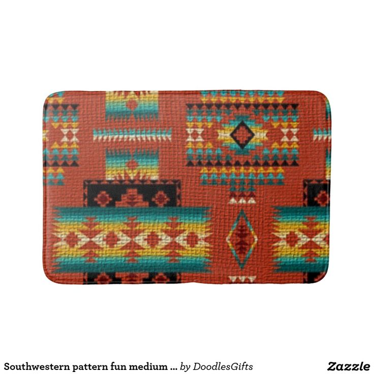 Southwestern pattern fun medium bathmat bath mats