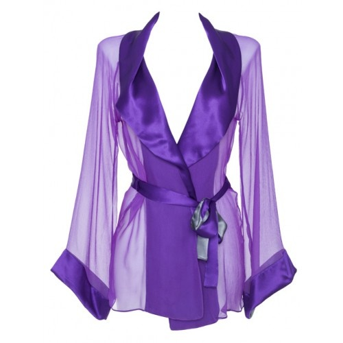 Silk chiffon heather gown from MC Lounge AW12 collection