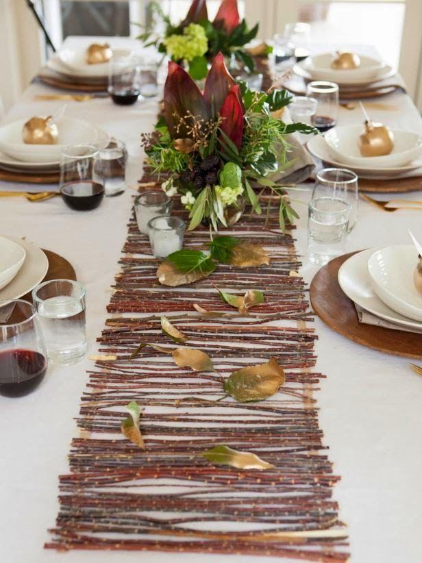 Ma maison au naturel: Décoration dautomne pour notre table  LES ...