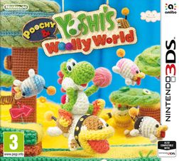 Poochy & Yoshi's Wooly World 3DS Cover Art