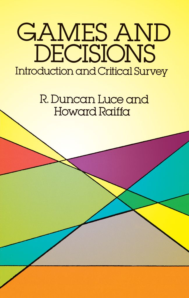 game theory and best decision The theory of rational choice is a component of many models in game theory by assuming a decision maker to be rational, according to this theory a decision-maker chooses the best action among all the actions available to her.