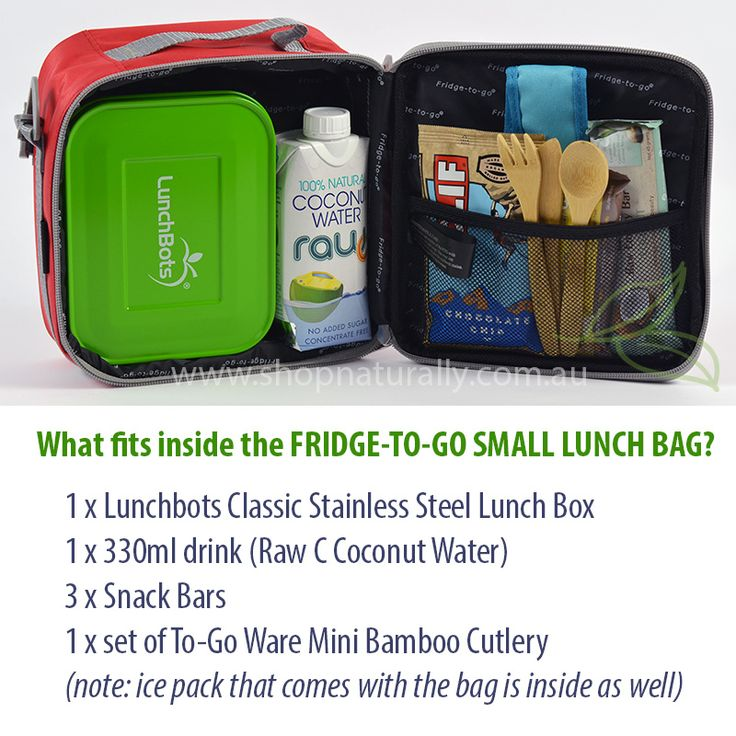 Taking the frustration out of trying to figure out what fits inside insulated lunch bags. Here's the Fridge To Go SMALL size. Just $30.95 from www.shopnaturally.com.au