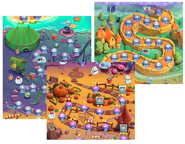 Gamasutra: Junxue Li's Blog - Bubble Witch 2 Saga: The most beautiful 3D render maps