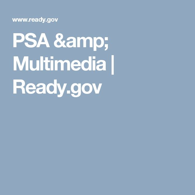 PSA & Multimedia | Ready.gov