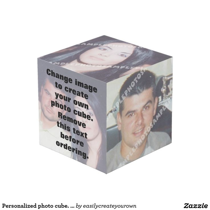 Personalized photo cube. Make your own! Just change images! #PhotoCube