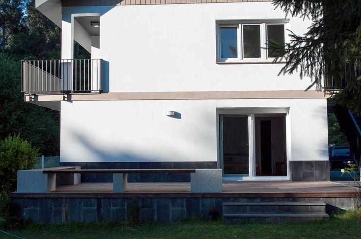 Detalle fachada y terraza