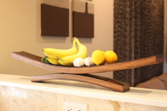 Wine Barrel Stave Fruit Tray by SLOBarrelWorks on Etsy, $45.00