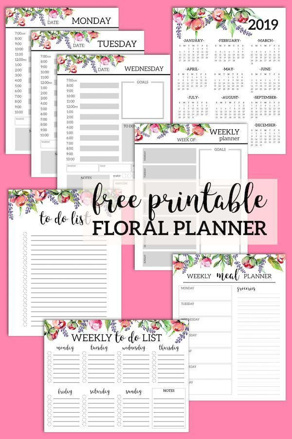 floral monthly planner template pages free printable free planner