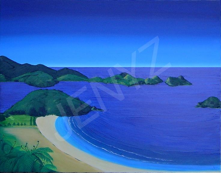 Matauri Bay         acrylic on canvas         75 cm x 65 cm$950 SOLD