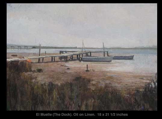 Xavier Rodés, El Muelle (The Dock). See it at Axelle Fine Arts Galerie, 91 Newbury Street, Boston