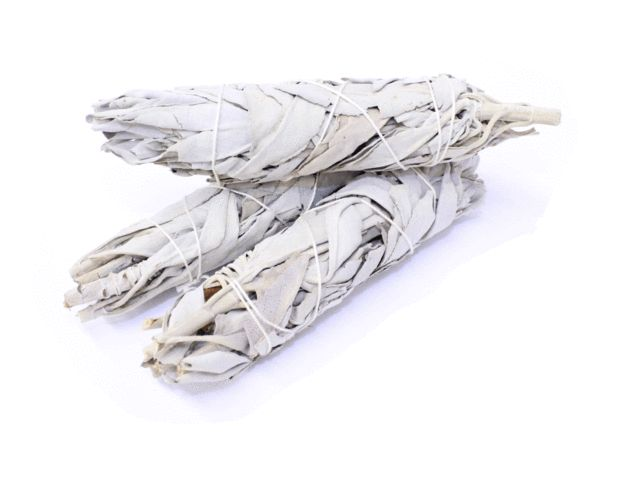 Small Sage Smudge Sticks - These great Sage Smudge Sticks are used for healing. The smoke is generally used to bless, cleanse and heal the person or object being smudged. Sage us used to cleanse the person from the outside world when entering into rituals, ceremonies and the like.    Smudge Sticks are bundles of dried herbs, quite often bound with string. The herbs are later burned as part of a ceremony or ritual.