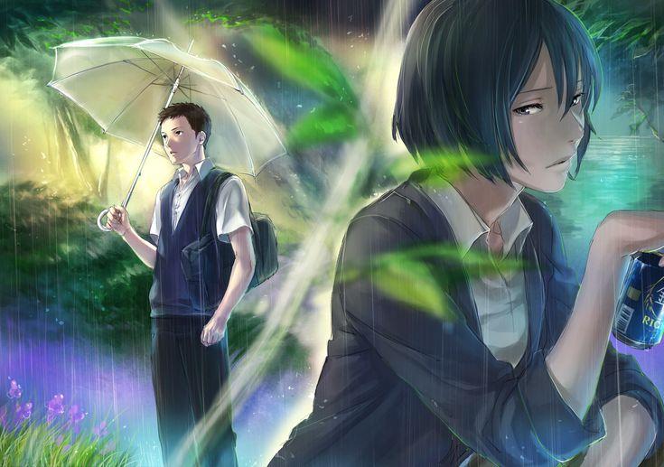 Tips Anime Jardin De Las Palabras Makoto Parejas De Anime