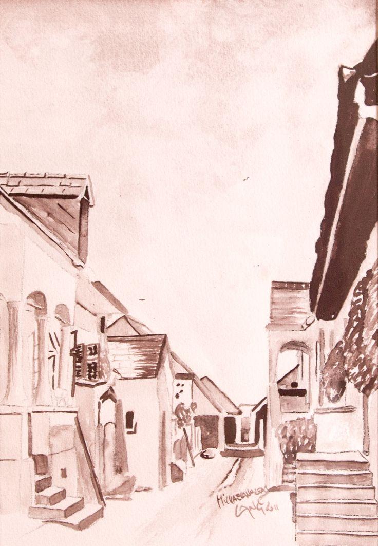 House 3   Mörbisch Watercolor on paper 40x50cm