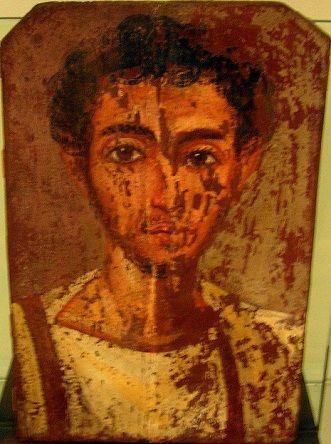 A Young Man, er Rubayat, end 3rd cent. AD (Torino, Museo Egizio, S 19483)