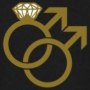gay symbols | Gay Marriage Ring Symbol T-Shirts