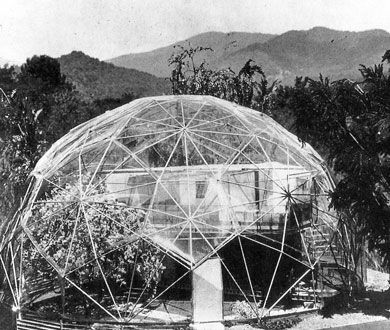 Autonomous living unit, 1949 by one of the greatest ecological thinkers, Buckminster Fuller