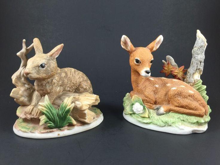 LOT Of Homco Animal Porcelain Figurines Rabbit 1411 Fawn Deer 8879 Home  Interior | AP Home Interior Figures | Pinterest | Rabbit And Porcelain