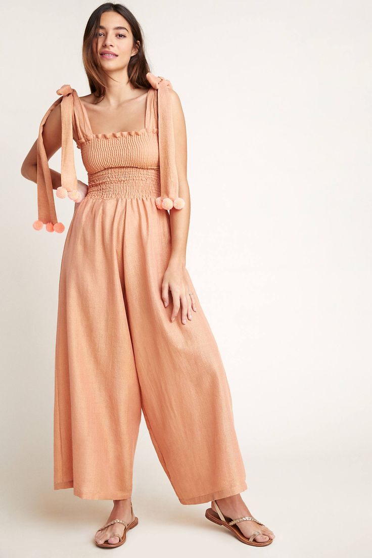 Pippa Jumpsuit by Sundress in Brown Size: Xs/s, Women's Jumpsuits at Anthropologie 1