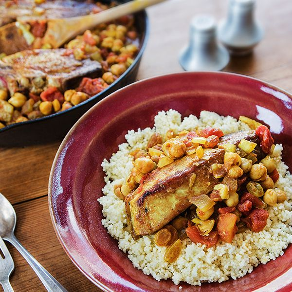 Moroccan Braised Country Pork Ribs with Garbanzo Beans