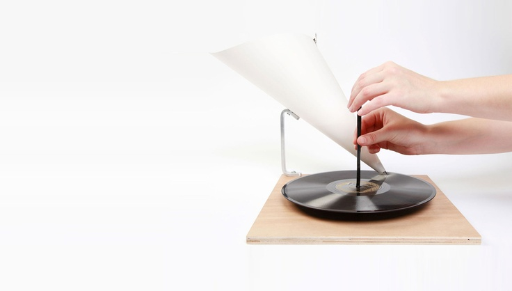 The World's Most Minimal Record Player: Hand Powered, Made Of Paper
