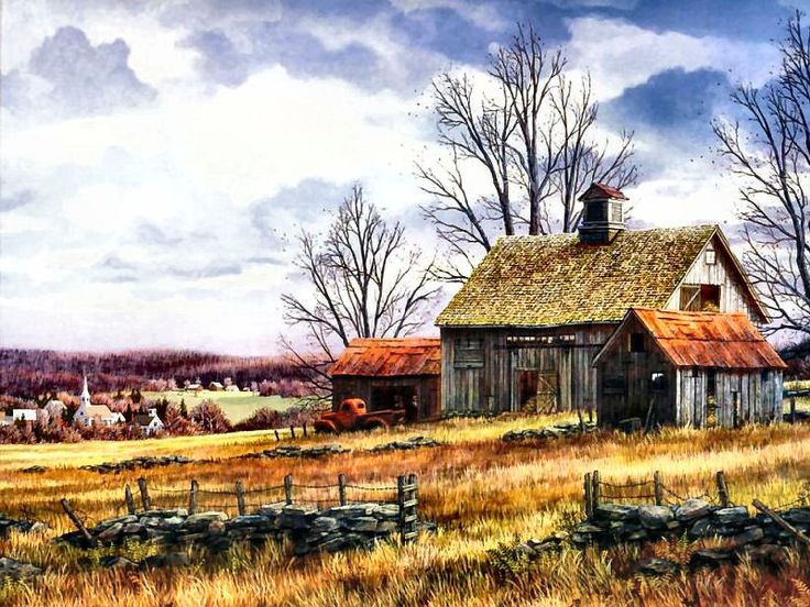Thanksgiving Day ~ Fred Swan | Charming Country Scenes ... - photo#14