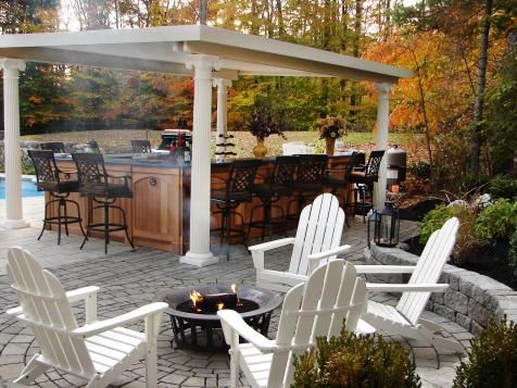 HGTV.com has pictures and ideas for small outdoor kitchens that will help you make the most of your small outdoor space.