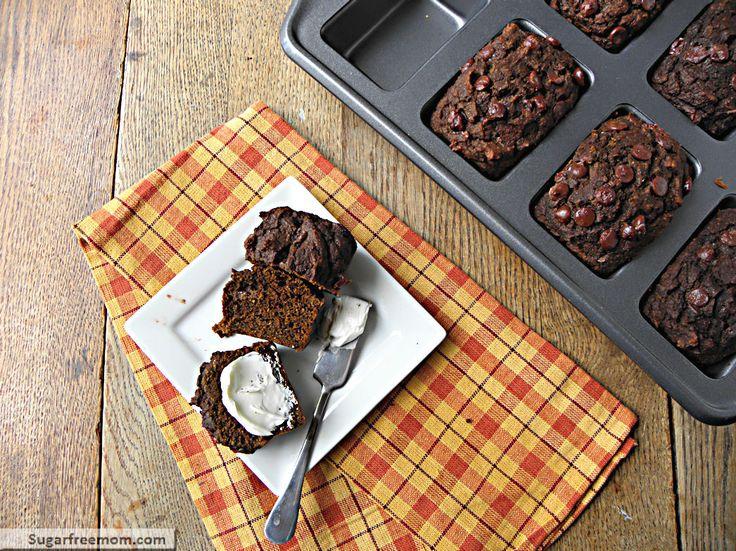 Mini Whole Wheat Chocolate Pumpkin Breads: No Sugar AddedPumpkinbread, Pumpkin Bread
