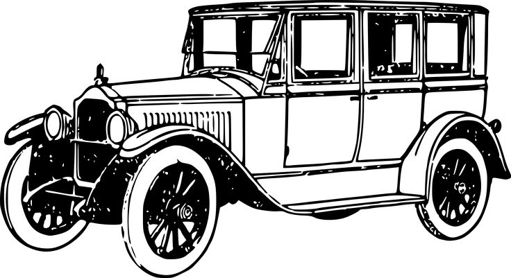 Vintage Car Clipart Black And White Vehicle Pictures Outydse