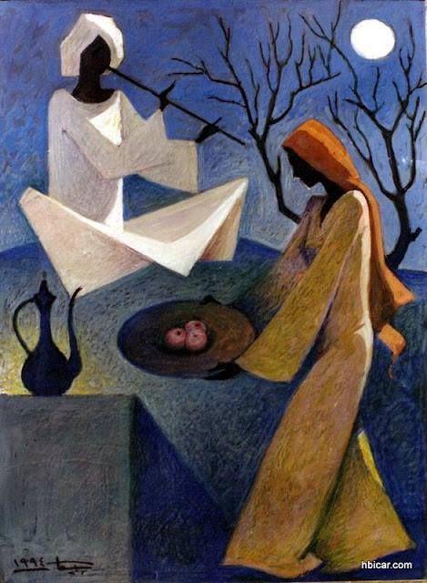 artist Hussain Bikar - Egypt