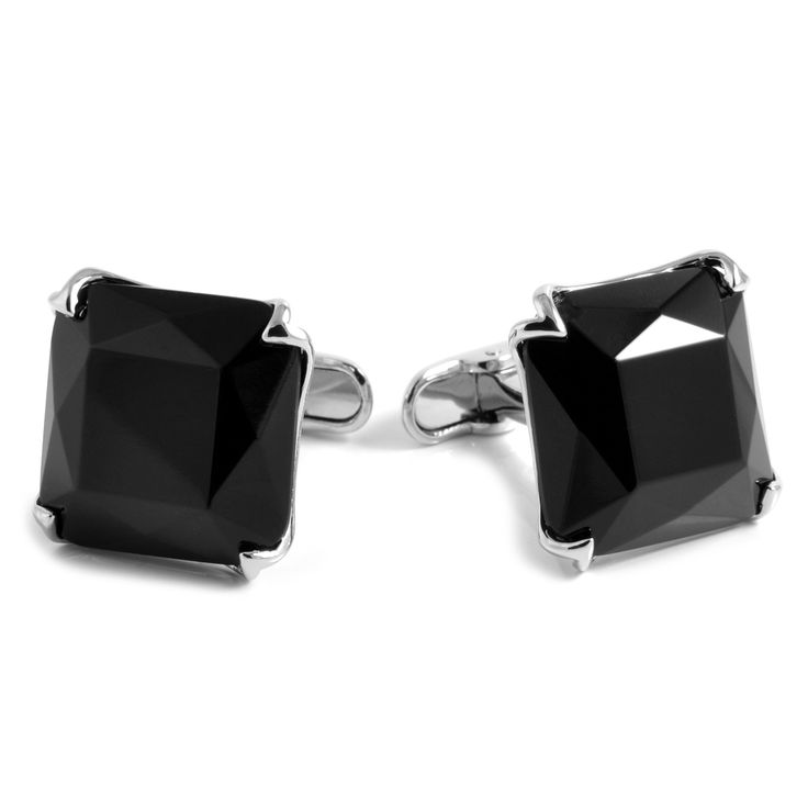 XL Sorte Diamanter Manchetknapper - 249,00kr