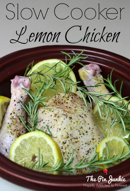 whole chicken in your slow cooker? This super easy Slow Cooker Lemon ...