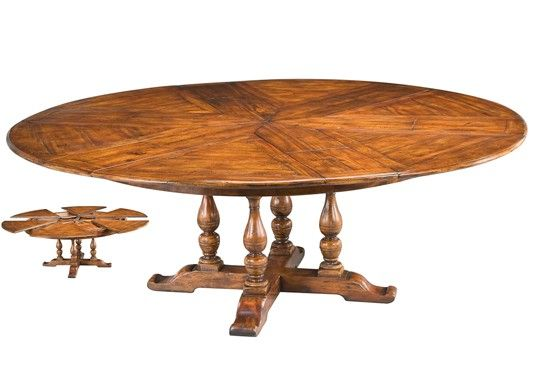 Jupe Style Expandable Table. Round Dining ...