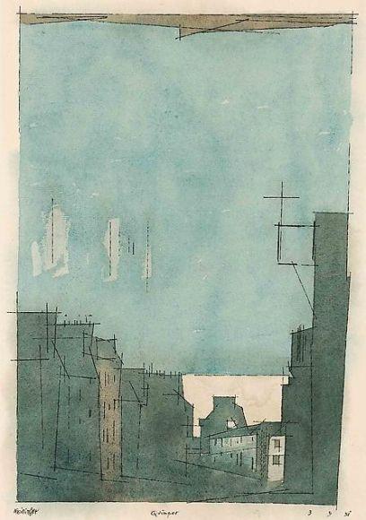 huariqueje:    Quimper -  Lyonel Feininger 1931 American   1871-1956 Watercolor, pen, and ink on paper 18 5/8 x 11 ¼ in. (47.3 x 28.6 cm)