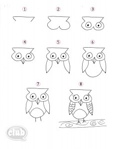 How to Draw an Owl yay :) kids will love