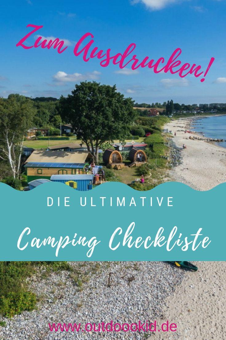 Checkliste: Camping mit Kindern