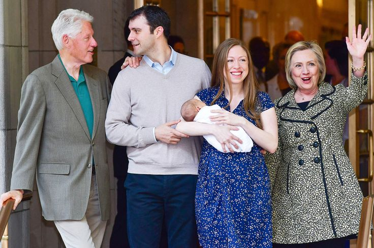 """Last Sunday Chelsea Clinton, usually such a reticent public figure, took to Times Square with her 2-year-old daughter, Charlotte, to march in the Muslim solidarity rally. """"Thank you to all who orga…"""