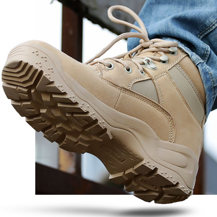 2017 High quality Autumn Winter Military Tactical Boots Round Toe Men Desert Combat Boots Outdoor Mens Leather Army Ankle Boots