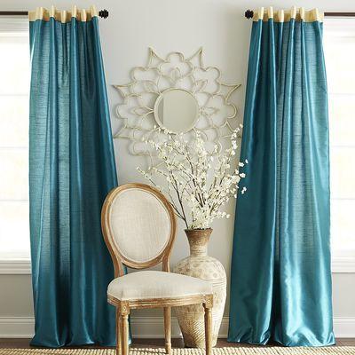Hamilton Curtain - Gilded Teal