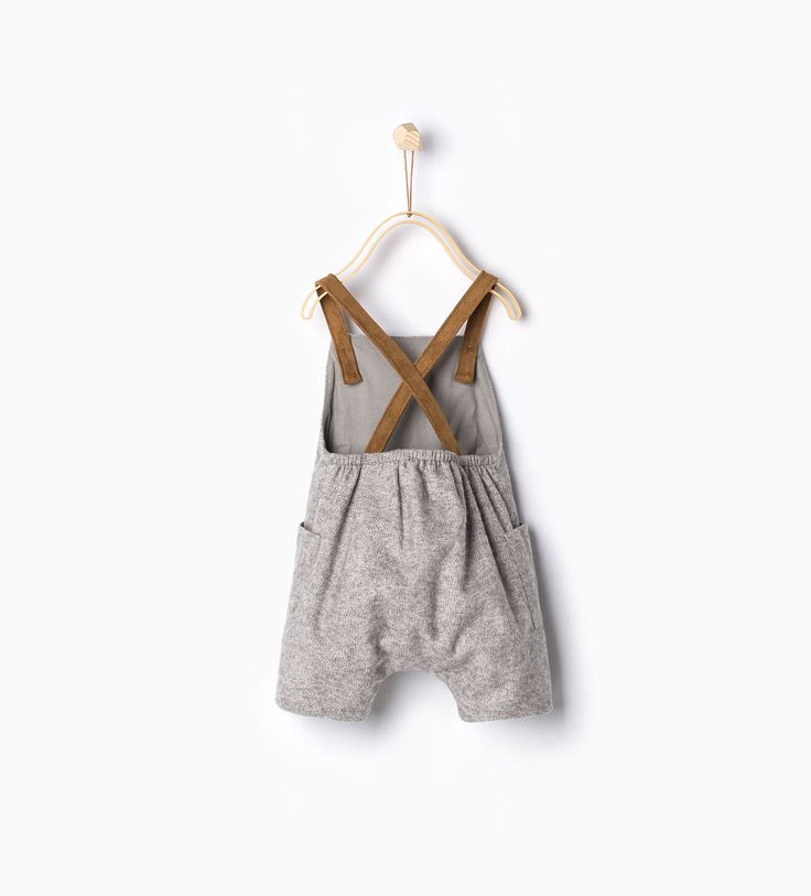Suede straps rompersuit-Trousers-MINI (0-12 months)-KIDS-SALE | ZARA Canada