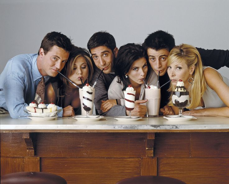 "Look at these faces. | 27 Rare Photos Of The Cast Of ""Friends"" Will Make You Wish It Was 1994 All Over Again"