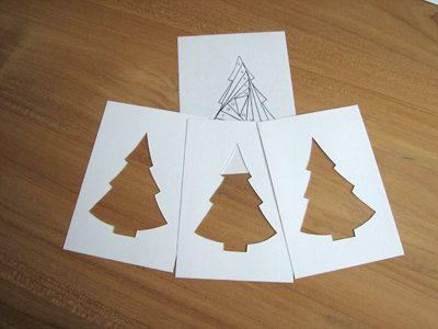 Pakket kerstboom om zelf kaarten te maken met door wielancards