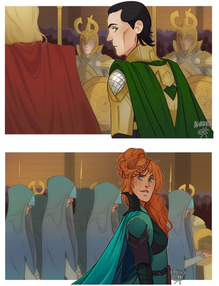 The Wolf by Nanihoo on DeviantArt (Sigyn and Loki)