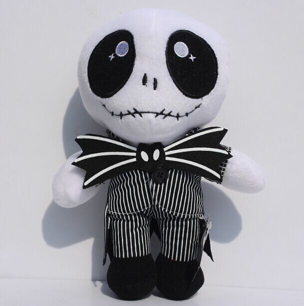 EMS 50 шт. Кошмар Перед Рождеством Джек Скелет Плюшевые Игрушки Мягкие Куклы Подарок Для Детей 10 25 см