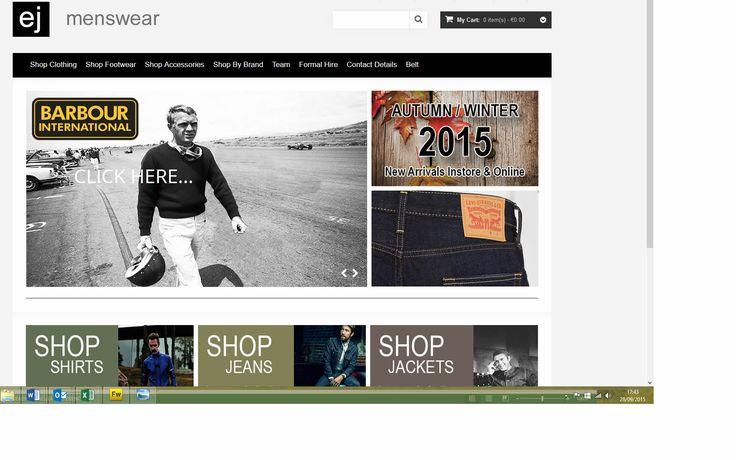 E-commerce responsive website built by www.format.ie for www.ejmenswear.com men's shop in Sligo