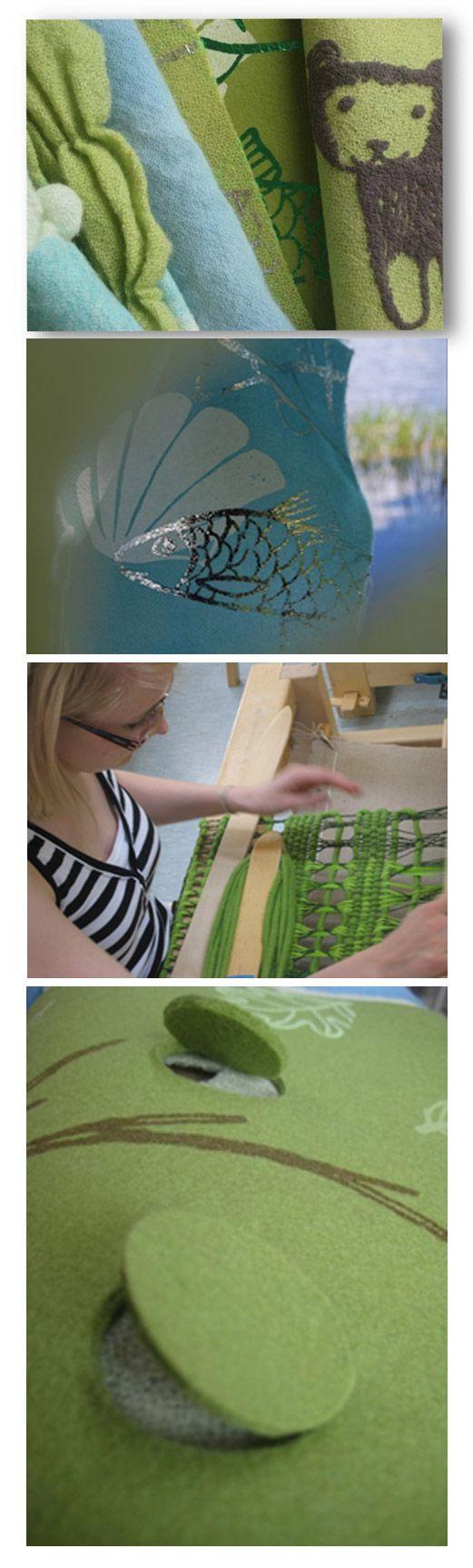 Wellbeing-tekstiilit: Aistihavaintokankaita erityisryhmille, reagoivien tekstiilipintojen mallintaminen // Tilaaja/Client: Wellbeing –hanke // Suunnittelijat/Designers: Hanna Vainio, Marja Lares, 2008