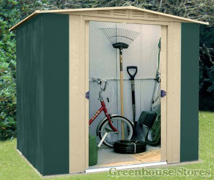 canberra 6x6 metal apex shed httpwwwgreenhousestorescouk