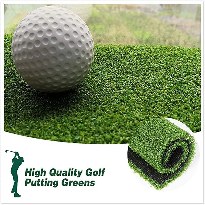 Amazon Com Putting Green Turf Golf Mat Indoor Outdoor 0 47 Custom Size 3ftx10ft Golf Hitti In 2020 Golf Putting Green Indoor Putting Green Artificial Grass Carpet