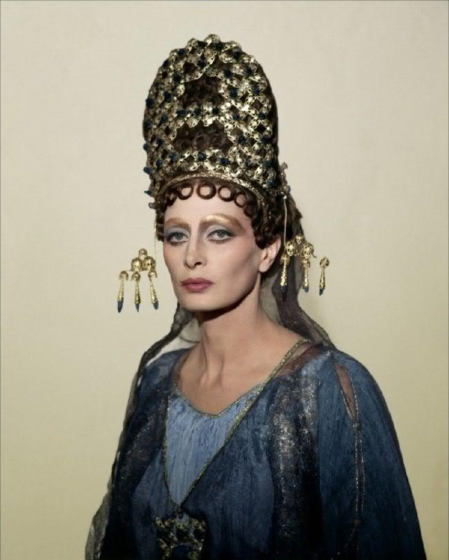 Magali Noël as Fortunata in Fellini's Satyricon