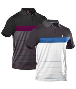 Under Armour Mens Pique Stripe Polo 2012 - http://www.golfonline.co.uk/armour-mens-pique-stripe-polo-2012