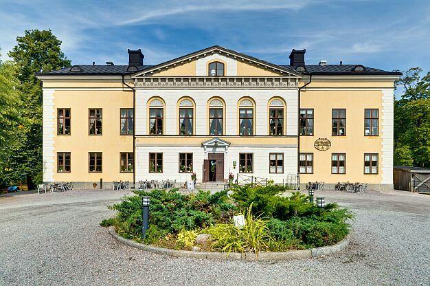 Cafe på Taxinge slott i Nykvarn